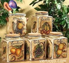 kitchen decorative canisters how to decorate your kitchen with italian ceramic canister sets