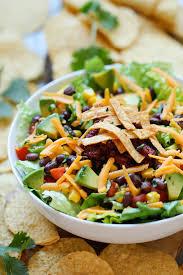 Garden Vegetable Salad by Taco Salad Damn Delicious
