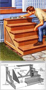 Outdoor Wood Project Plans by Building Porch Steps Outdoor Plans And Projects Woodarchivist