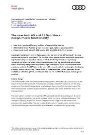 2017 audi a5 s5 sportback press release