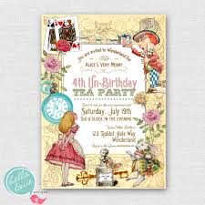 mad hatter tea party invitations printable mickey mouse