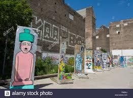 berlin wall sections berlin wall sections with art berlin germany stock photo