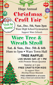 huge annual christmas craft fair ware public schools