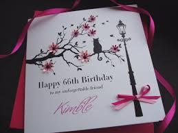stunning birthday cat in floral branch birthday card handmade