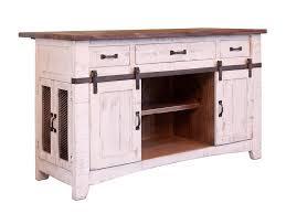 international furniture direct pueblo kitchen island with sliding