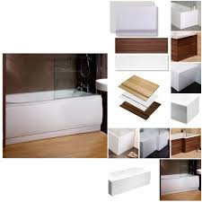 Bathtub Panel by Bath Panel Side Front Cover Flat White Acrylic Plastic Adjustable