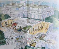 Floor Plan Of White House National Park Service Brochure Map Of The White House Tourist