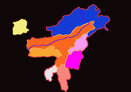 North East Map Come And See Northeast India Map With Their State Bird And State