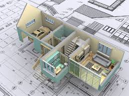 3d isometric view the cut residential house on architect u0027s stock