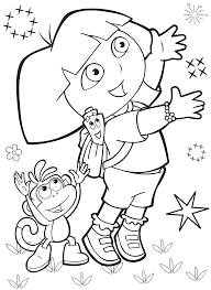 Dora Halloween Coloring Pages by Free Coloring Page Dora