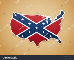 Confederate States Flags Map United States America Confederate Flag Stock Vector 703363921
