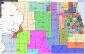 Chicago Suburbs Map The 100k Districts Series