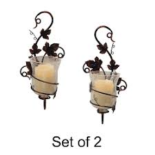 Flameless Candle Wall Sconce Flameless Candle Sconces With Timer Pacificaccents