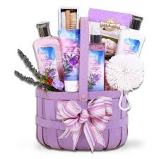 Spa Gift Baskets For Women Buy Lavender And Sage Mothers Day Spa Gift Basket For Women In