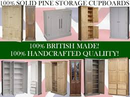 solid pine storage cupboard 172 cm high handcrafted u0026 waxed 4