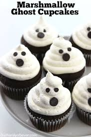 Marshmallow Ghost Cupcakes Ourfamilyofseven