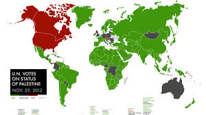 Canada On A Map Map How The World Voted On Palestine