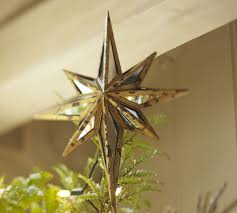 mirrored tree topper pottery barn