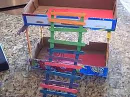 Doll House Bunk Bed Dollhouse Bunk Bed For Barbies And Monster High Dolls Youtube