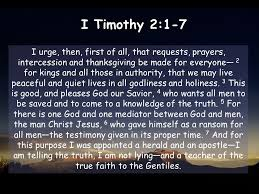 i timothy 2 1 7 i urge then of all that requests prayers