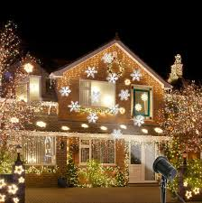 Christmas Outdoor Projector Lights by Moving Snowflake Led Outdoor Landscape Laser Projector Lamp Garden