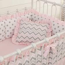 Gray Chevron Crib Bedding Nursery Beddings Pale Pink And Gray Nursery Bedding Also Pink