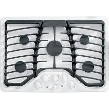 Ge Profile Gas Cooktop 30 Shop Ge Profile 5 Burner Gas Cooktop White Common 30 In