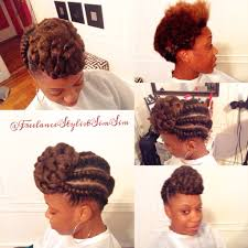 natural updo hairstyle w flat twist u2013 www simsimstyles com