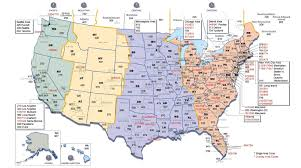 Map Us Usa by Usa Area Code And Time Zone Wall Map Mapscom Ontimezonecom Time
