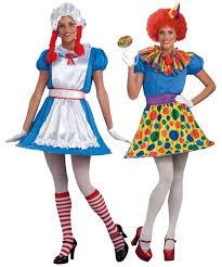 Rag Doll Halloween Costumes Clown Reversible Ragdoll Costume Women Clown Costumes