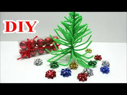 Christmas Tree Decoration Craft Ideas - crafts for christmas how to make diy pipe cleaner christmas tree
