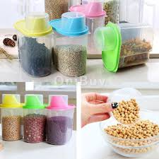Dry Food Containers Storage Plastic Containers Kitchen Dining Bar Men