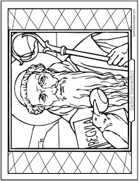 saint coloring page saint benedict quotes and coloring pages ravens and saints