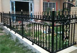 ornamental wrought iron fence for grand houses