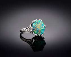 black opal estate jewelry tiffany u0026 co black opal ring m s rau antiques