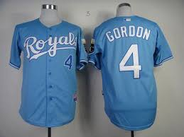 Gordon Light Royals 4 Alex Gordon Light Blue Cool Base Stitched Mlb Jersey