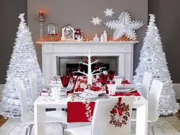 white christmas table decorations