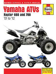 yamaha raptor 660 01 05 u0026 raptor 700 06 12 haynes repair