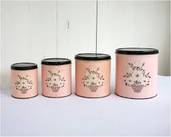 pink canisters kitchen 4ac3c52acc07078b87d71567fedeff7d vintage retro kitchen canisters