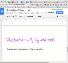 Google Docs Table 5 Ways To Make Professional Looking Google Documents Teacher Tech