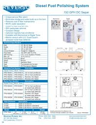 Reference Provided Upon Request Marine Diesel Fuel Polishing System 150 Gph Dc Separ Reverso