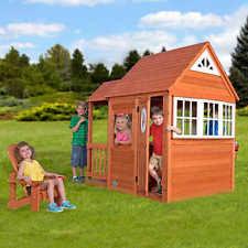 Backyard Cedar Playhouse by Wooden Playhouse Ebay