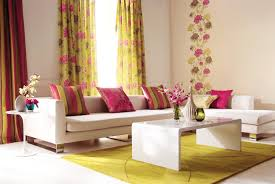 Pink Table L L Shape White Leather Couches With Low Back Combined With Pink
