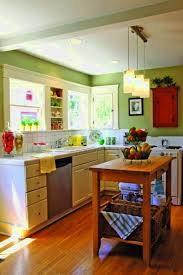kitchen style small country kitchen pastel green wall painted