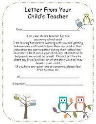 lovely teacher introduction letter to parents sample how to