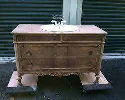 Old Dresser Made Into Bathroom Vanity Vanities Gray Dresser Turned Double Vanity Chic Old Dresser Into