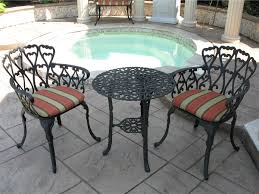Cast Aluminum Patio Table And Chairs Aluminum Bistro Table And Chairs With 17 Black Cast