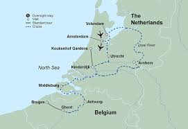 netherlands location in europe map springtime tulip river cruise travel tours collette