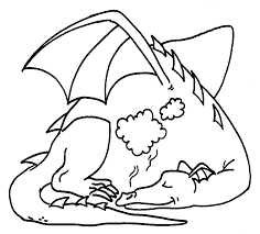 dragon coloring 6 clip art library