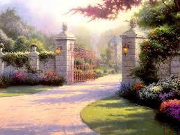 summer gate thomas kincade wallpaper image